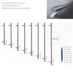Stoßgriff Serie AS 10 _  45 Grad Stützen Edelstahl feinmatt poliert
