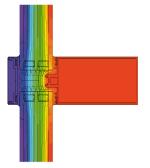 Verteilung der Isothermen in der Fassade - MB-SR50N