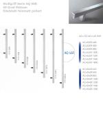 Stoßgriff Serie AQ 10 _  45 Grad Stützen Edelstahl feinmatt poliert